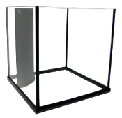 Edge Cube 60 Gallon Rimless Reef Ready Aquarium with Opti-Pure Glass